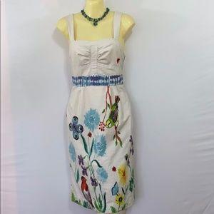 Anthropologie Dress Cotton Garden Scene VGC 4